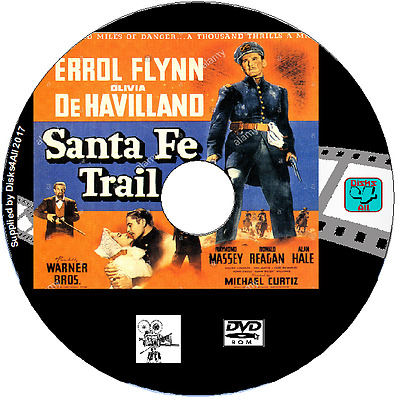 Santa Fe Trail - Errol Flynn,  Olivia De Havilland DVD Film Western • 1.89£