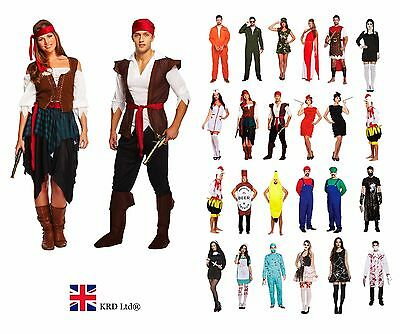 ADULT FANCY DRESS COSTUME Ladies Mens Halloween Horror Outfit Book Character UK • 20.05£