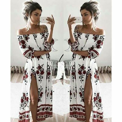 AU19.66 • Buy Women Boho Floral Maxi Long Dresses Summer Evening Party Beach Casual Sundress
