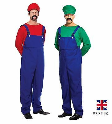AU65.47 • Buy ADULT WORKMEN Mens Super Plumber Couples Fancy Dress Costume Outfits Stag Night
