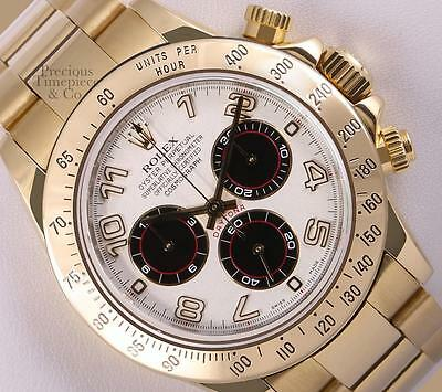 $ CDN46108.27 • Buy Rolex Men Daytona 116528 18k Yellow Gold Watch-White Arab Dial-18k Gold Bezel
