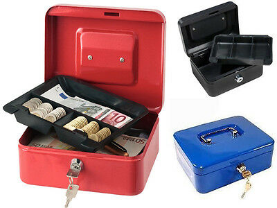 £5.99 • Buy New Steel Petty Cash Boxes Tray Money Holder Security Safe Hide Markets Shop