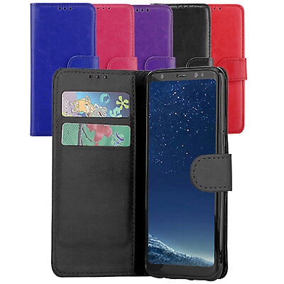 $ CDN5.18 • Buy Luxury Magnetic Flap Wallet Case Leather Flip Cover For Samsung Galaxy S8