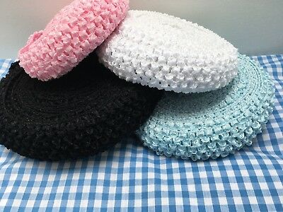 1.5  Crochet Headband Stretch Elastic Fabric, Ideal For Headbands & Tutus • 5.90£