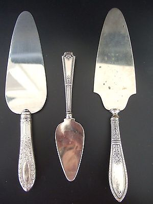 $ CDN40 • Buy Lot Of 3 VTG Silver Serving Knives – Cake, Pie, Cheese