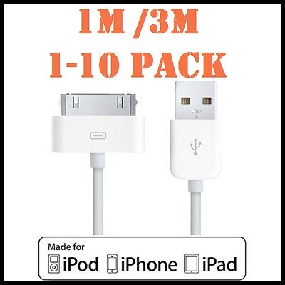 AU3.89 • Buy 1M 3M USB Data Charger Sync Cable For Apple IPhone 4S 4 3GS IPod IPad 2 3 White