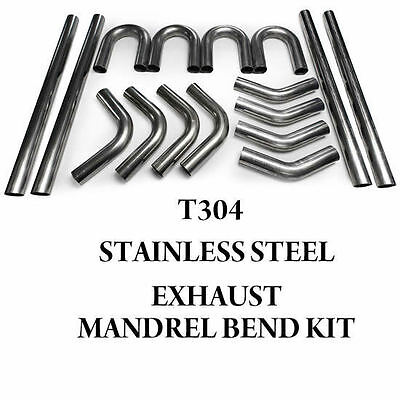 Stainless Steel Mandrel Bend Exhaust Diy Pipe Kit 45 90 180 Degree Elbow  • 274.99£