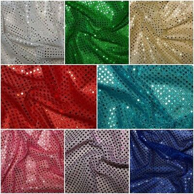 Sequin Jersey Fabric With 3mm Diameter Sequins Choice Of Colour And Length • 4.75£