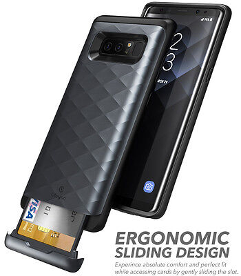 AU19.95 • Buy For Samsung Galaxy Note 8 Case Clayco Argos Series With Credit Card/ID Card Slot