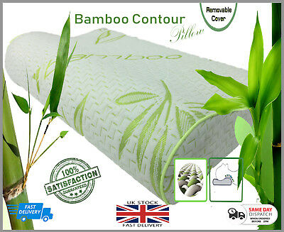 Orthopaedic Pillow Head Neck Support Bamboo Contour Memory Foam Pillow 2 Sizes • 16.99£