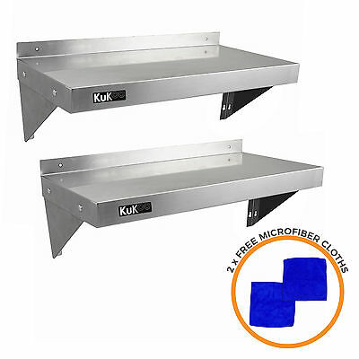£99.99 • Buy 2 X Stainless Steel Shelves Commercial Catering  Kitchen Wall Shelf Metal 900mm