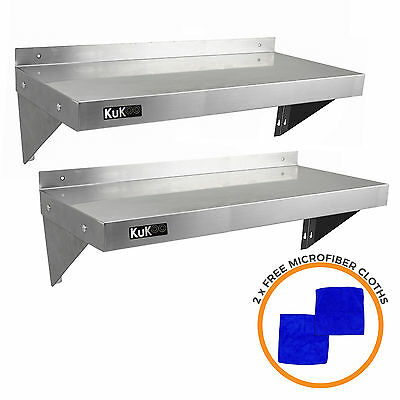 £109.99 • Buy 2 X Commercial Catering Stainless Steel Shelves Kitchen Wall Shelf Metal 1000mm