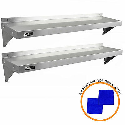 £129.99 • Buy 2 X Stainless Steel Shelves Commercial Catering Kitchen Wall Shelf Metal 1400mm