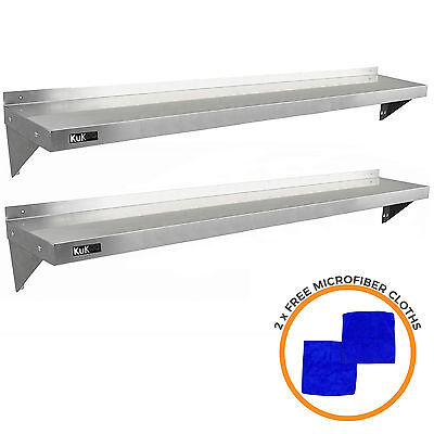 £149.99 • Buy 2 X  Stainless Steel Shelves Commercial Catering Kitchen Wall Shelf Metal 1940mm