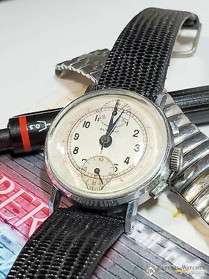 Serviced Vintage Olympic Co R. GSELL  Watch Up Down Chronograph Venus 170 1950s • 445.33£