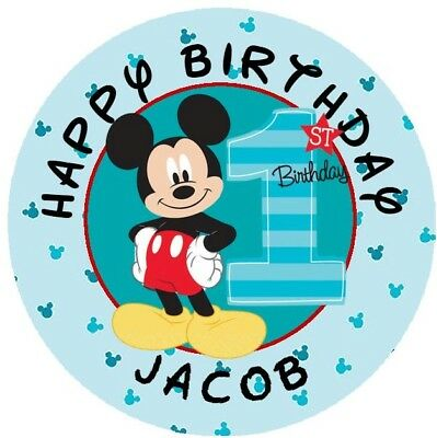 $4.49 • Buy Mickey Mouse Fun To Be One Candy Bubble Label Party Favors YOU PICK PERSONALIZED