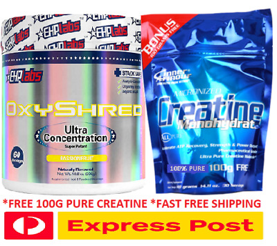 AU79.95 • Buy Ehplabs Oxyshred Thermogenic Fat Burning Weight Loss Plus 100g Creatine