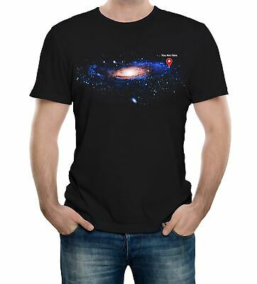 You Are Here Men's T-Shirt Space Map Stars Science Solar System Galaxy Infinity • 9.99£