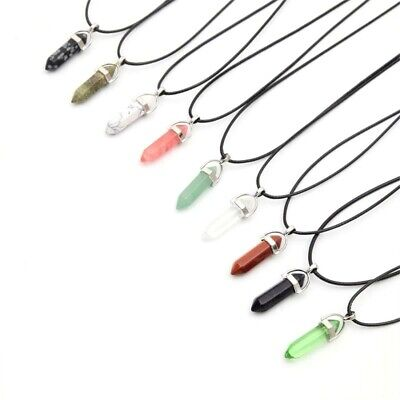 Crystal Pendant Necklace Up To 30% Off Healing Crystal Pendant Point - FAST P&P • 3.49£