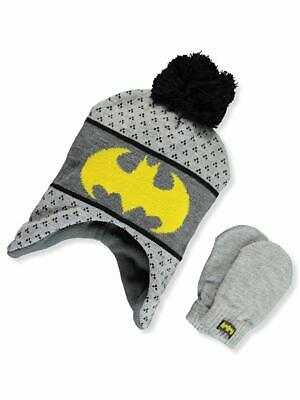 04a2286057a DC Batman Boys Winter Hat Gloves Beanie SET Mittens Kids Toddler  Superheroes 2+ • 13.67