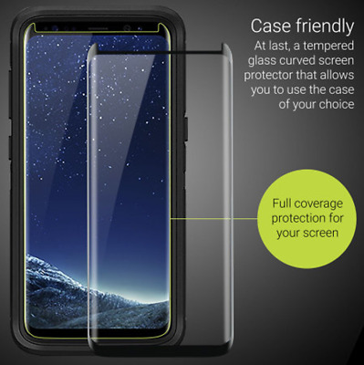 $ CDN2.88 • Buy Galaxy S8 S9+ Plus 3D Case Friendly Tempered Glass Screen Protector For Samsung