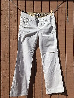 $9.99 • Buy White Freestyle Revolution Wide Leg Pants Size 11