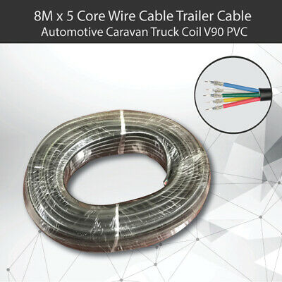 AU21.99 • Buy 8M X 5 Core Wire Cable Trailer Cable Automotive Boat Caravan Truck Coil V90 PVC
