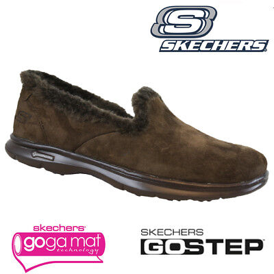£34.95 • Buy Ladies Skechers Go Step Relaxed Fit Memory Foam Fur Slippers Shoes Trainers Size