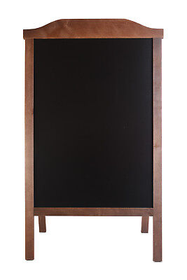WOODEN A-BOARD, PAVEMENT SIGN, SANDWICH, BLACK BOARD STAND CHALK Engraving RO • 45£