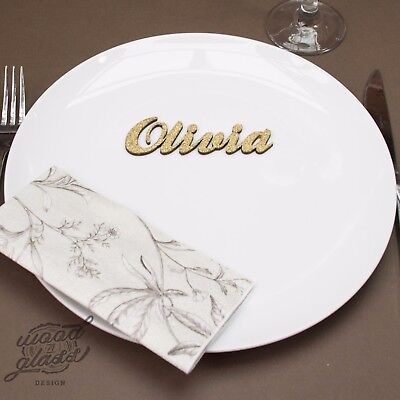 £1.30 • Buy Wooden Wedding Place Name, Place Setting, Table Names, Laser Cut Names