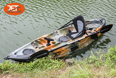 AU499 • Buy 2.7M Jetocean Single Sit On Top Fishing KAYAK With Paddle And Seat Jungle Camo