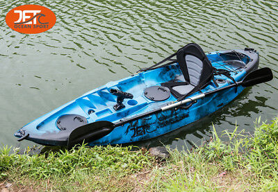 AU349.99 • Buy 2.7M Jetocean Single Sit On Top Fishing KAYAK With Paddle And Seat Melbourne