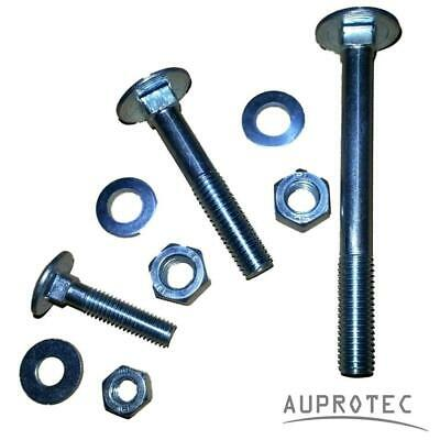 Carriage Bolts With Nuts And Washers M5 To M12 Cup Square Coach Screws DIN 603 • 8.72£