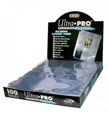 £4.49 • Buy Ultra Pro Platinum A4 Trading Card 9-Pocket Pages/Sleeves 10 - 100 Yugioh, MTG