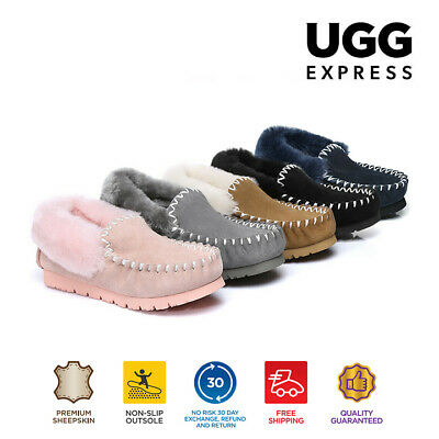 AU50 • Buy UGG Sheepskin Moccasins Slippers, Genuine Australian Winter Casual Slip-on