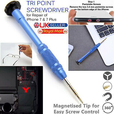0.6 Tri Point Screwdriver Repair Triwing Tool Y000 For Apple IPhone 7 & 7 Plus + • 2.75£