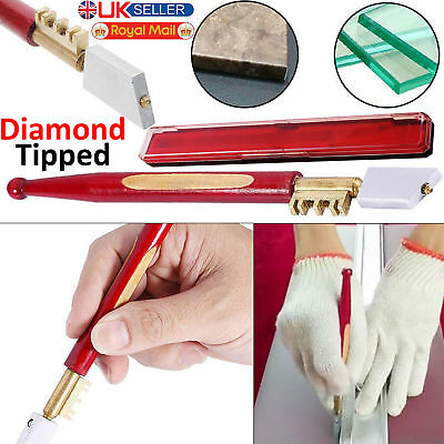 Professional Diamond Tip Glass Cutter Window Mirror Tile Glazing Cutting Tool UK • 3.49£