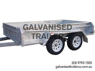 AU3000 • Buy 9x5 Tandem Trailer Galvanised Heavy Duty With 410mm Deep Checker Plate Sides