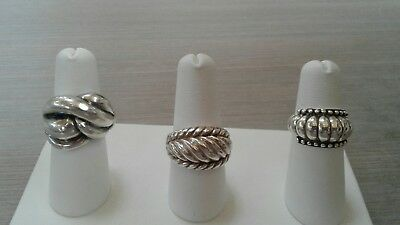 $ CDN126.91 • Buy 925 Sterling Silver Rings Lot, Great Pre Owned Condition, 22.4 G Weight,