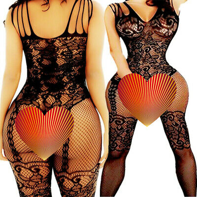 $6.24 • Buy Adult Fishnet Body Stockings Babydoll Sleepwear New Bodysuit Lingerie Women's