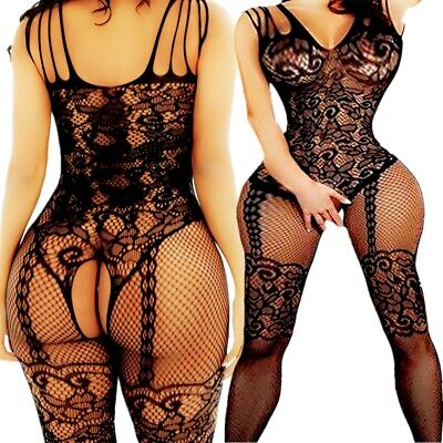 $6.74 • Buy Adult Fishnet Body Stockings Babydoll Sleepwear New Bodysuit Lingerie Women's