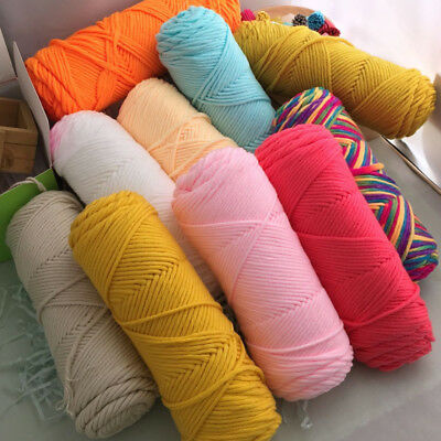 AU2.81 • Buy Lot Of Crochet Knitting Soft Yarn Milk Fiber Cotton Thick 8 Ply  Crafts 100g