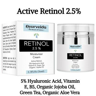 Retinol 2.5% Face Cream-Serum-Day And Night Cream-Anti Ageing- 5%Hyaluronic Acid • 12.99£
