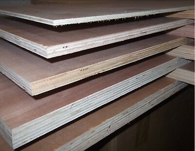 9mm Exterior Eucalyptus Plywood Hardwood Faces Various Sizes 4x4 4x2 4x1 3x3 • 23.25£