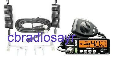 President Barry AM/FM Dual Voltage CB Radio & Twin Antenna Kit • 150£