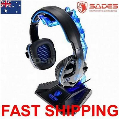 AU18.50 • Buy SADES Headset Headphone Stand Protect From Damage Hanger Bracket Universal Blue