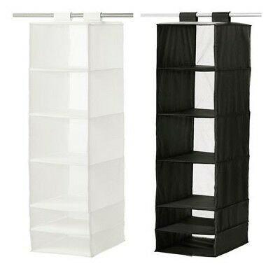 IKEA SKUBB Wardrobe Clothes Storage Organiser With 6 Compartments White / Grey  • 14.99£