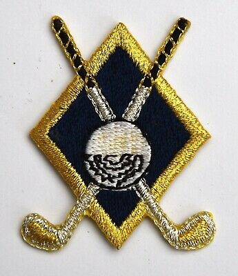 Golf Clubs Embroidered Motif Iron On Patch Embroidery Golfer's Golfing Golfer • 1.70£