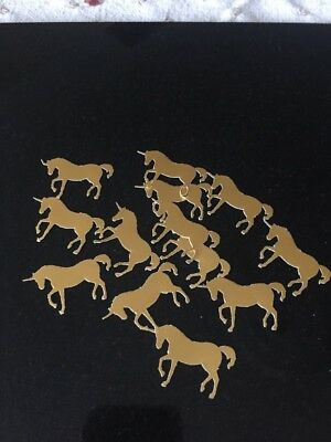 50 Large Unicorn GOLD Mirror Card-Table Party Confetti • 2.25£