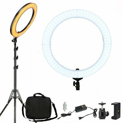 AU144.99 • Buy 18  Dimmable Diva LED Ring Light Kit Diffuser W/ Stand Photo Video Studio Makeup
